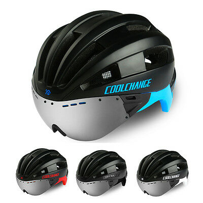 Bicycle Helmet Bike Cycling Adults Adjustable Unisex Safety Helmet with Goggles