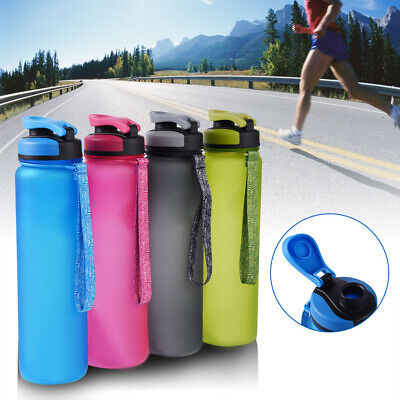 600 / 1000ML Water Bottle Drinking BPA Free Cycling Travel Sports Gym Leakproof