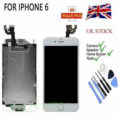 LCD Touch Screen Digitizer Assembly For white iPhone 6 4.7'' +Camera&Home Button