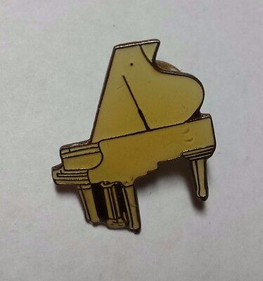 VINTAGE Yellow Baby Grand Piano-  Lapel Hat Pin