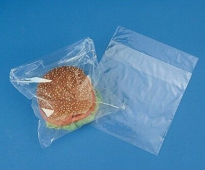 "1000 pcs Clear Sandwich Plastic Bags Fold Top 7x7""+Flap 1.5"""