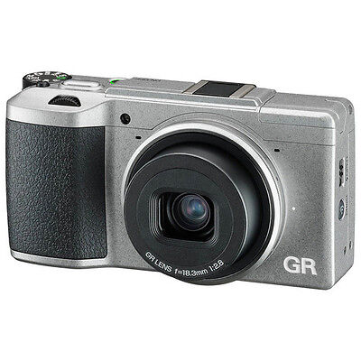 Ricoh GR II (Silver) Limited Edition 16.4MP Camera with Case & Memory Card