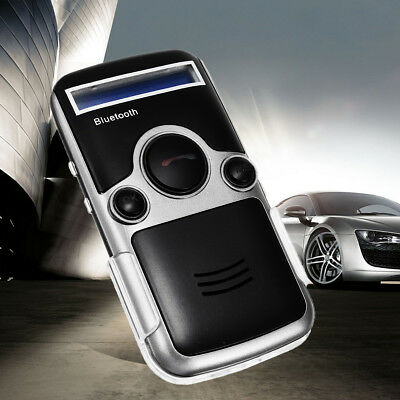 Bluetooth Solar Powered Handsfree Car Kit Digtal LCD Speaker For Cellphone Dial