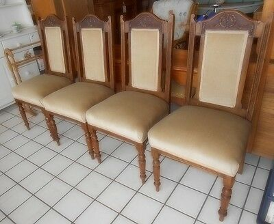 Dining Chairs x 4 Hand Carved Walnut. LOCATED BS24 7BE. Delivery available.