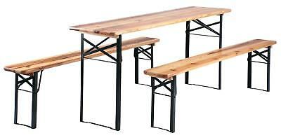 Ensemble Brasserie Table Banc Bois Pliable Meuble Jardin Terrasse Fete Bar