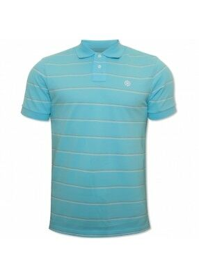 Nike Mens Light Blue Striped Polo Shirt