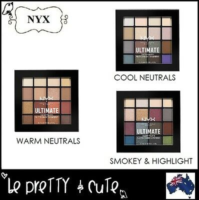 Nyx Ultimate Shadow Palette Usp - Warm, Cool Neutrals Smokey & Highlight