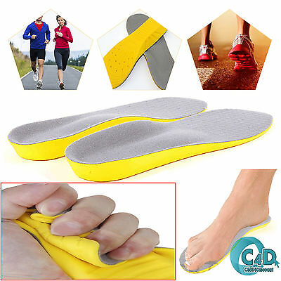 Memory Foam Unisex Orthopaedic Shoe Pads Trainer Foot Feet Comfort Soft Insoles