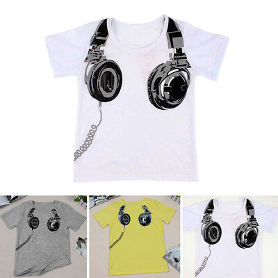 Toddler Baby Boys Kids Clothes Summer Short Sleeve T-shirt Casual Tops 2-7 Years