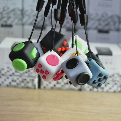 2.2cm Mini Fidget Cube Anti stress Novelty Gag Stress Relief Desktop Games Toys