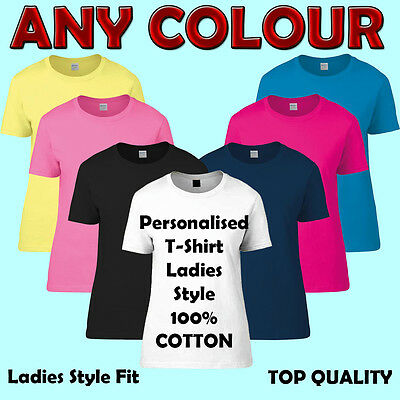 Personalized Printed Custom T-Shirt Ladies - Stag / Hen/ Events/ Birthday - DTG