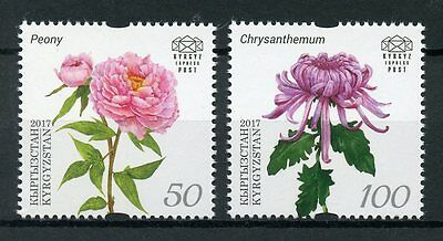 Kyrgyzstan KEP 2017 MNH 19th Intl Botanical Cong Shenzhen 2v Set Flowers Stamps
