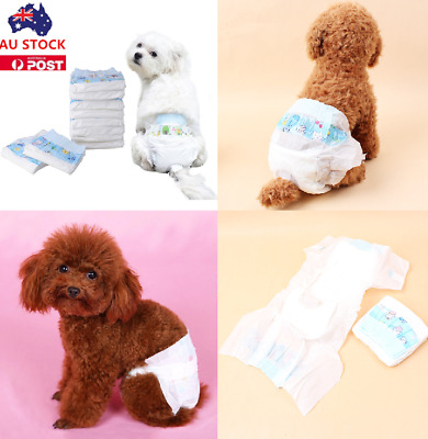 10PCS Clean Go Pet Disposable Dog Puppy Cat Diapers Nappy Pads Sanitary Pants