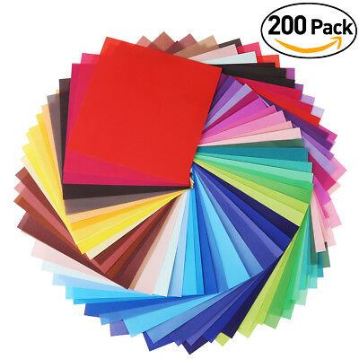 "200 Sheets 6"" Square Double Sided Origami Folding Lucky Wish Paper Crane Craft"