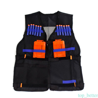 Tactical Vest Kids Toy Gun Clip Jacket Foam Bullet Holder  AR68