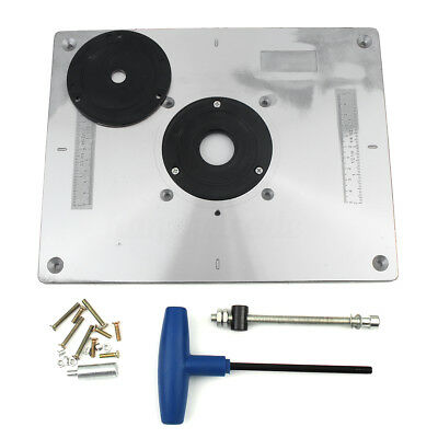 New Aluminum Router Table Insert Plate 235 x 300 x 8mm With Ring For Woodworking