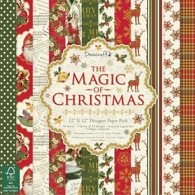 """Dovecraft The Magic of Christmas Craft Collection - 12x12"""" Paper Pack"""
