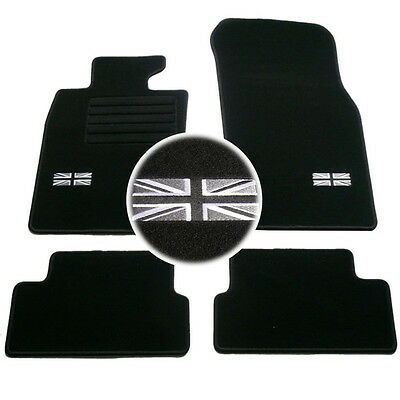4 Tapis Sol Mini 2006-2014 R56 Cooper & S & D Moquette Logo Flag Uk Specifique