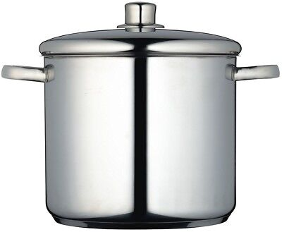 Master Class Induction-Safe Stainless Steel Stock Pot With Lid - 8.5 L (15