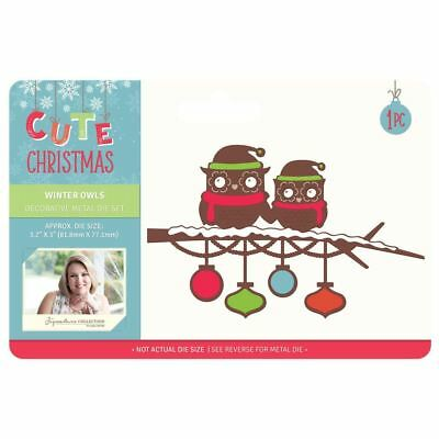 Sara Davies Cute Christmas Signature Collection - Winter Owls Metal Die