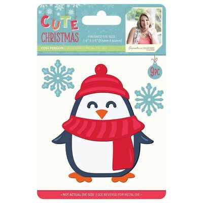 Sara Davies Cute Christmas Signature Collection - Cosy Penguin Metal Die
