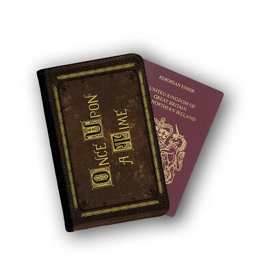 Once Upon A Time Book Novel Adventure Passport Holder Travel Flip Cover Case