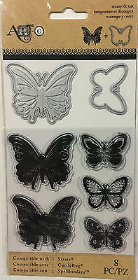Art-C Clear Stamp And Die Set ~Butterflies Code 24668
