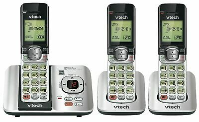 Phone Answering System Cordless Vtech 3 Backlit Keypad DECT6.0 Silver / Black