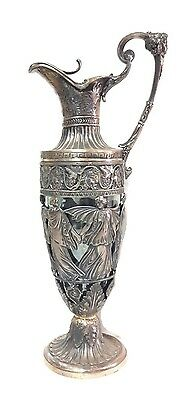 Antique Imperial Russian Decanter 925 Sterling Silver Art Deco Nouveau Russia