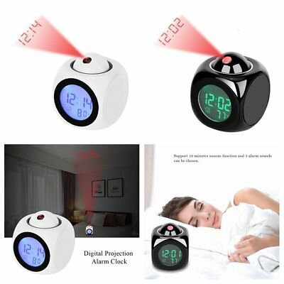 Digital LCD Snooze Projection Desk Alarm Clock  LED Time Temperature Projector