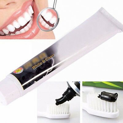 Dentifrice blanchissant charbon de bambou dents noir supprime taches