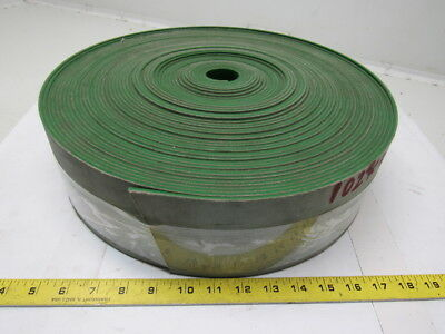 "2-Ply Green Smooth Top Rubber Conveyor Belt 102' X 4"" X 0.145"""