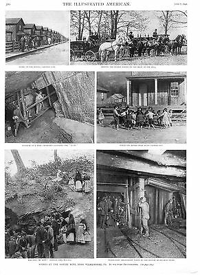 Scenes at the Ashley Mine Disaster, near Wilkesbarre, Pa.  -   1890