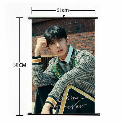 Kpop MONSTA X Hyung Won Hanging Painting Wall Scroll Poster Home Decor
