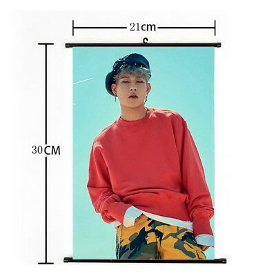 Kpop MONSTA X Joo Heon Hanging Painting Wall Scroll Poster Home Decor