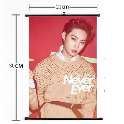 Kpop GOT7 JB Hanging Painting Wall Scroll Poster Home Decor