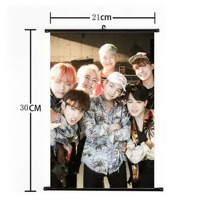 Kpop BTS Bangtan Boys Hanging Painting Wall Scroll Poster Home Decor
