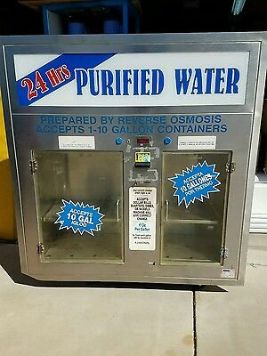 Water store window vending machine stainless high end model, cost $8k nice!