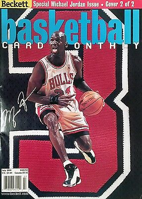 Autographed Michael Jordan Basketball Monthly Magazine - Chicago Bulls