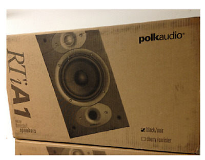 Polk Audio RTiA1 Black Bookshelf Speakers ONE PAIR RTi A1 Brand New