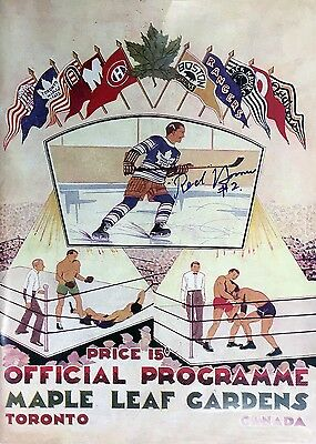 Autographed Red Horner MLG Magazine Cover - Toronto Maple Leafs