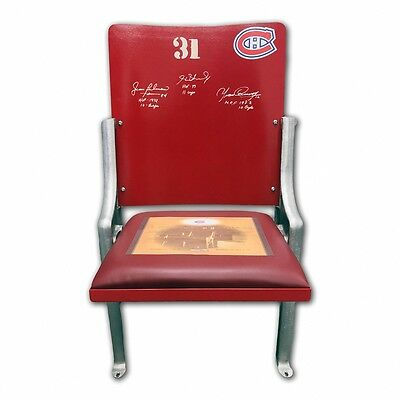 Montreal Canadiens Forum Seat - Signed by Beliveau, H. Richard, Cournoyer