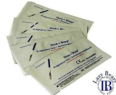 5 X Pregnancy Test Ultra Early 10mIU HCG Urine Strip Testing Kits