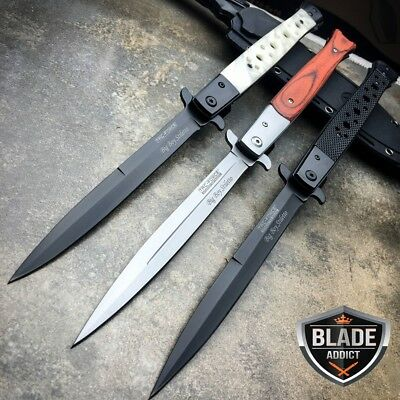 "3 PC TAC FORCE 13"" Extra Large Spring Assisted Open STILETTO Pocket Knife SET"