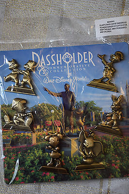 Disney Pin 112586 WDW Annual Passholder Gold Statues 6 pin set Booster Pack