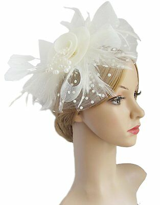 Flower Cocktail Tea Party Headwear Feather Fascinators Top Hat for Girls and
