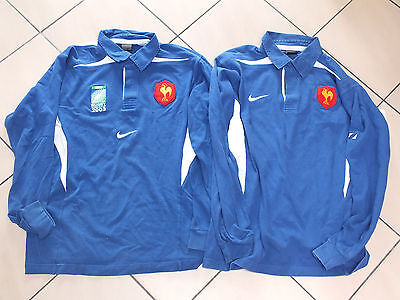 !! Lot 2 maillots rugby shirt jersey EDF FRANCE BLEUS XL !!