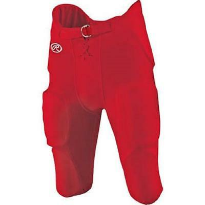 Rawlings Youth F1500P Integrated Football Pant, Red