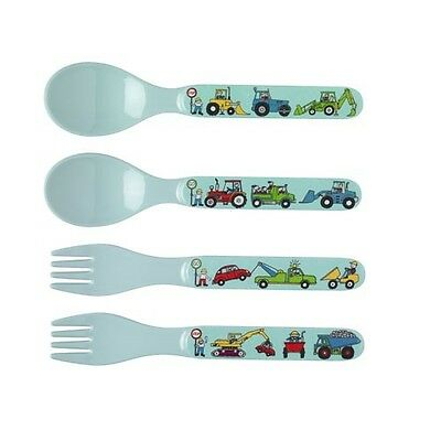 Tyrrell Katz Kids Cutlery Set Farm Boys Tractor Toddler Child From 12 months