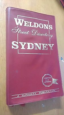 WELDONS street directory SYDNEY (combined taxis approved) 1980s